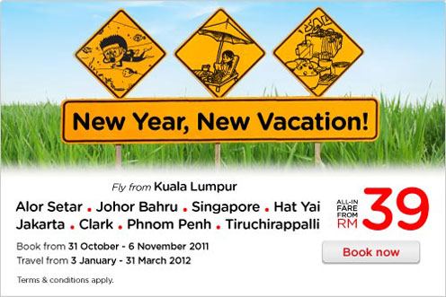 AirAsia Promotion - New Year, New Vacation