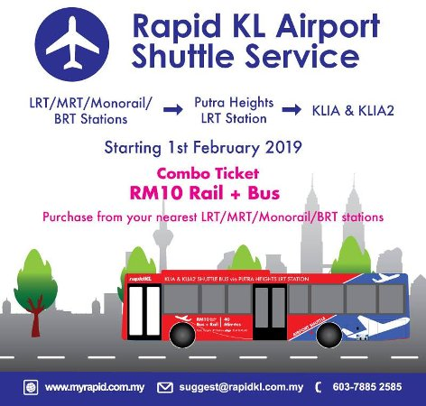 RM10 Combo Ticket to KLIA / klia2