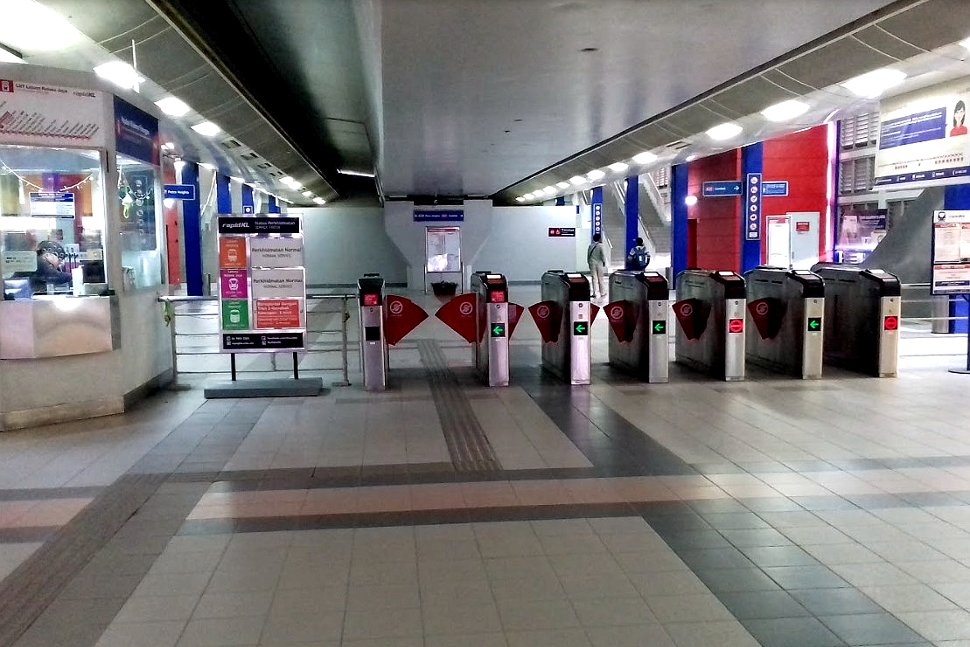 Faregates for the LRT at the concourse level