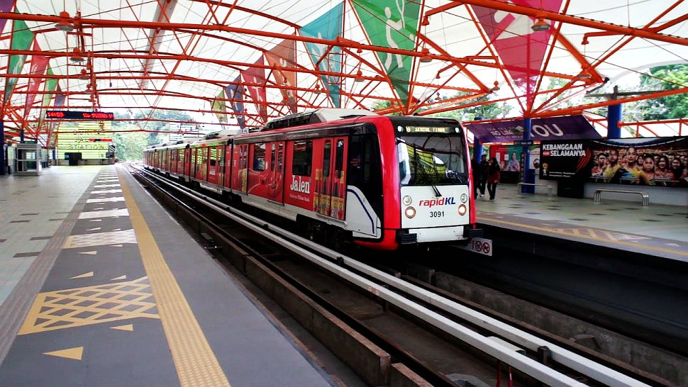 The 6-car AMY train at Bukit Jalil station