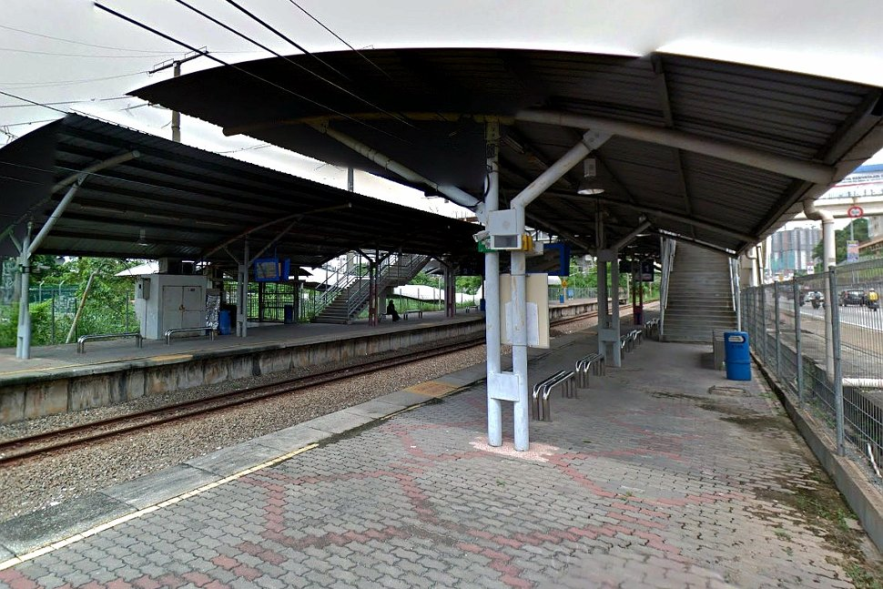 Boarding platform at the station