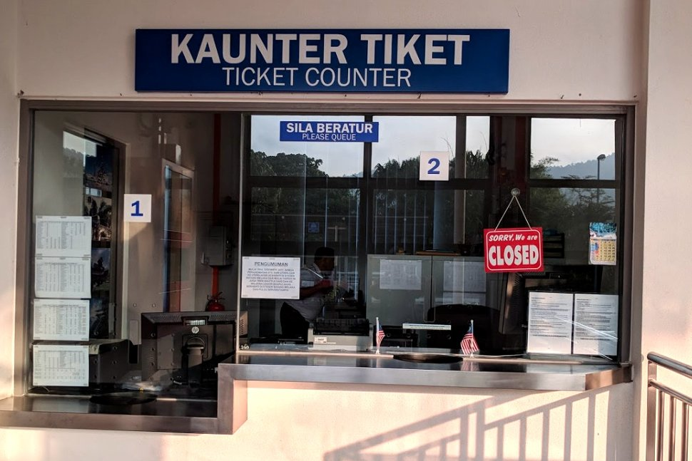Ticket counter at the station