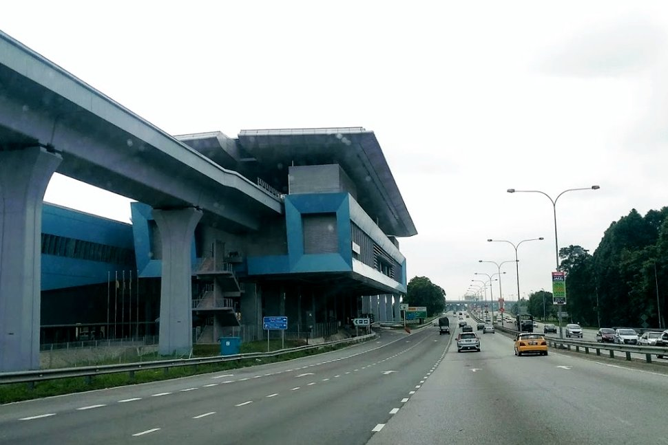 View of the Bukit Dukung MRT station