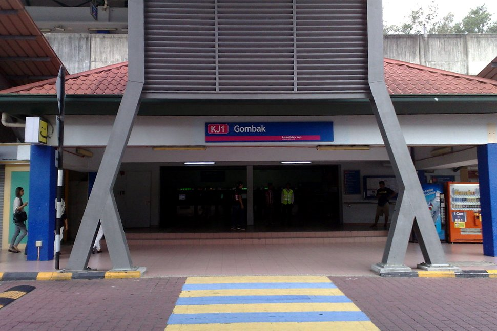 Entrance to Gombak LRT Station