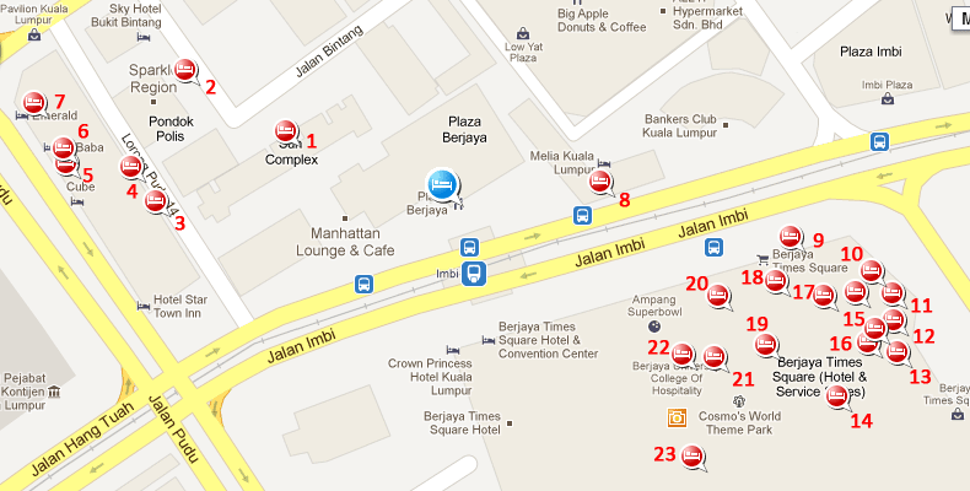 Hotels near Imbi station