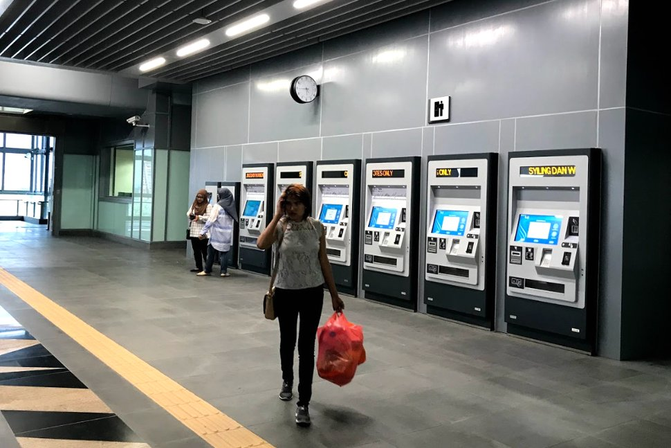 Ticket vending machines on the concourse level