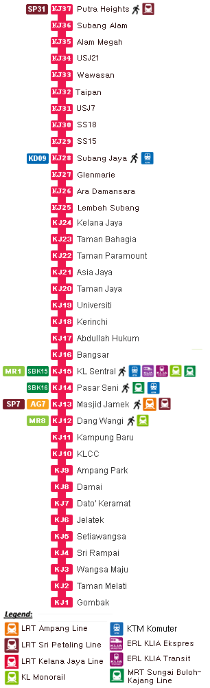 Map Of Asia Jaya Lrt Station.Bangsar Lrt Station Klia2 Info
