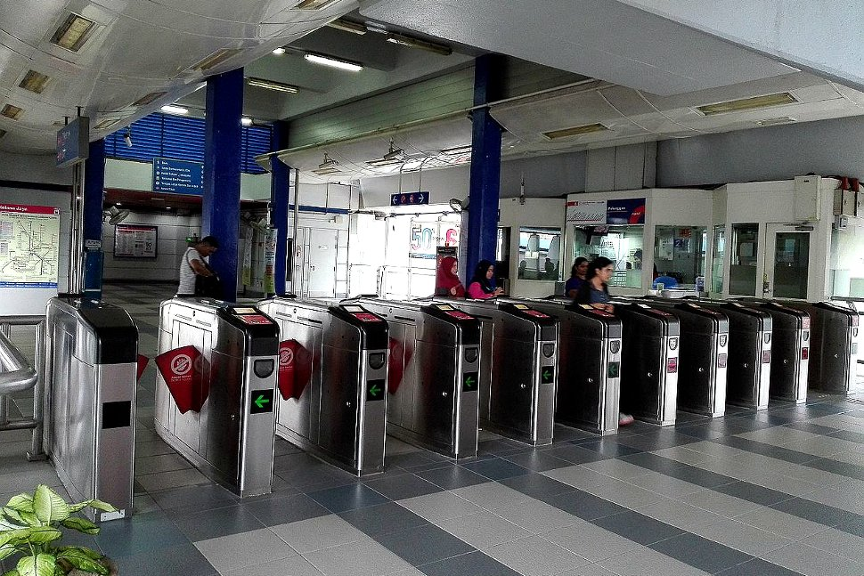 Faregates and customer service office