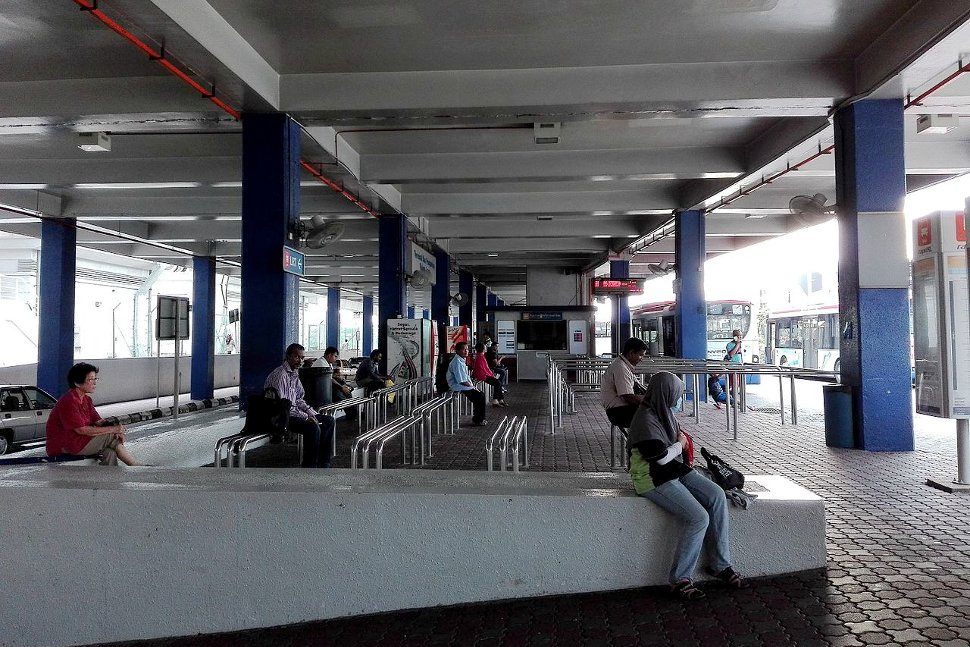Commuters waiting at Kelana Jaya LRT Station