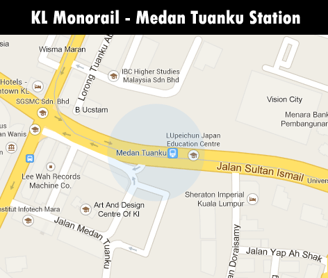 KL Monorail station - Medan Tuanku station