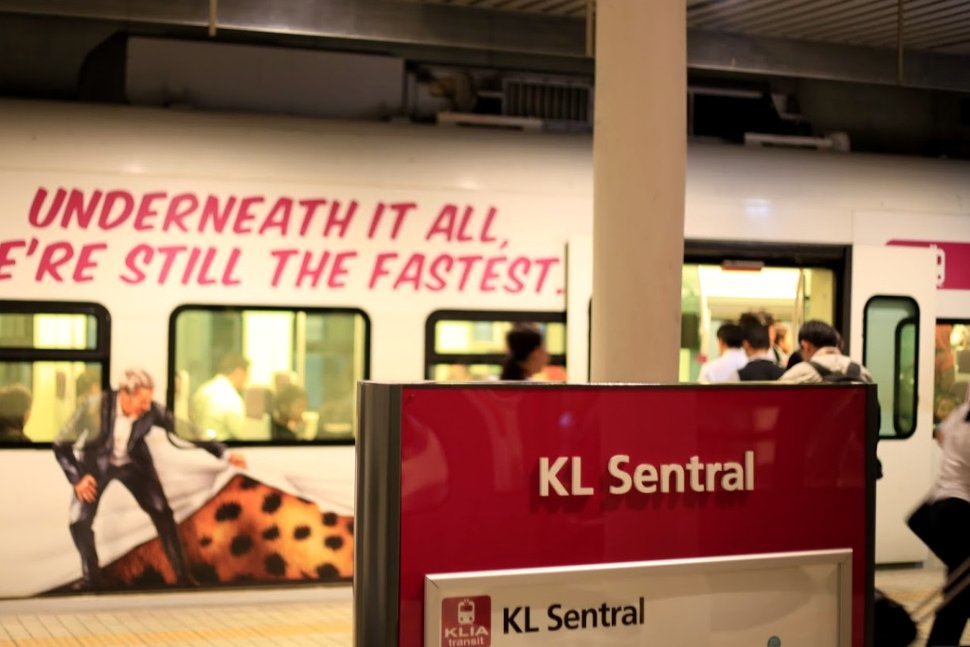 ERL Boarding platform at KL Sentral