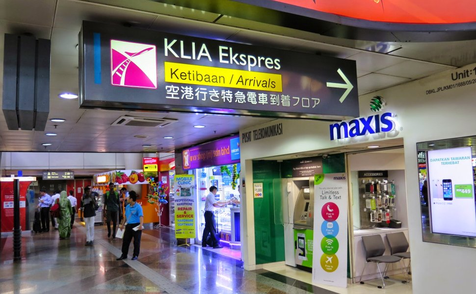 Signboard for direction to KLIA Ekspres' Arrival station