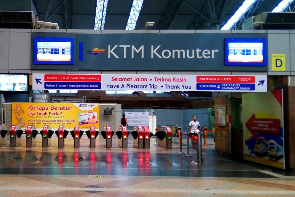 Faregates at the KL Sentral KTM station