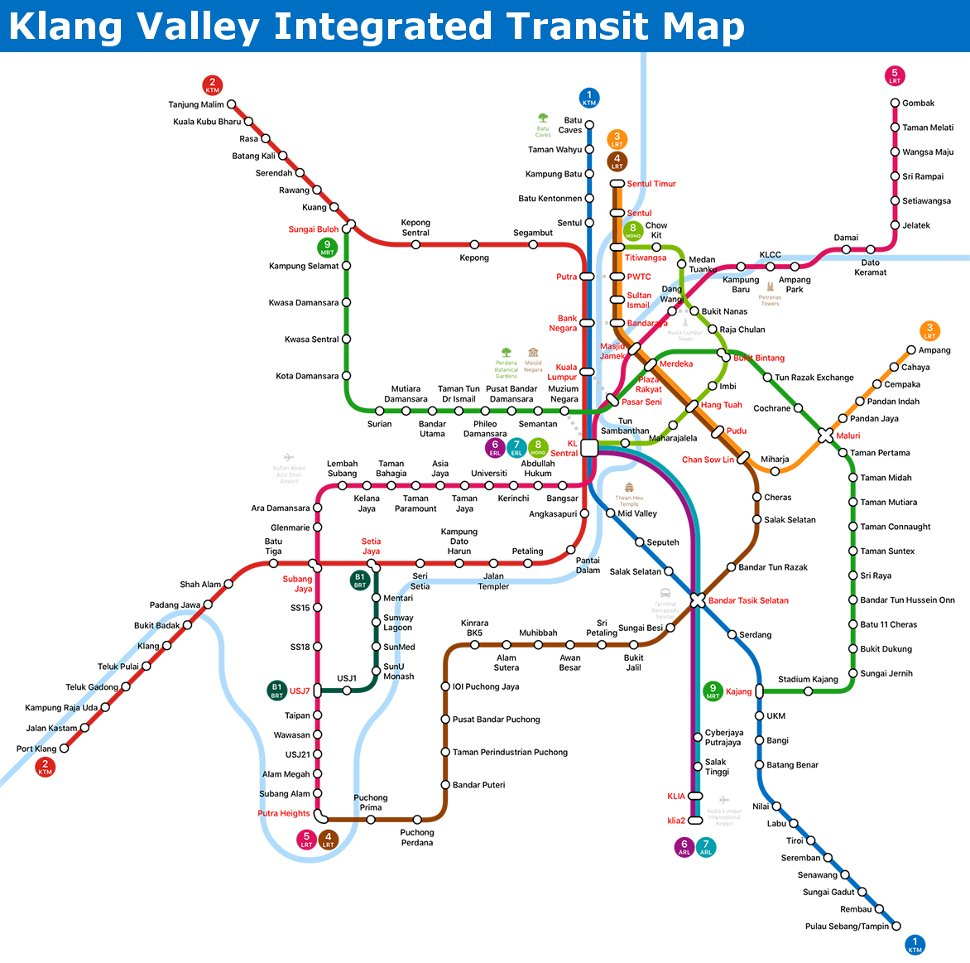 Klang Valley Integrated Transit Map