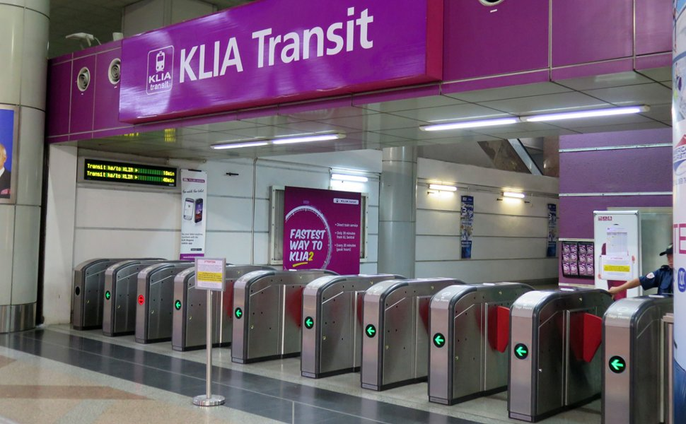 Entrance to board KLIA Transit train