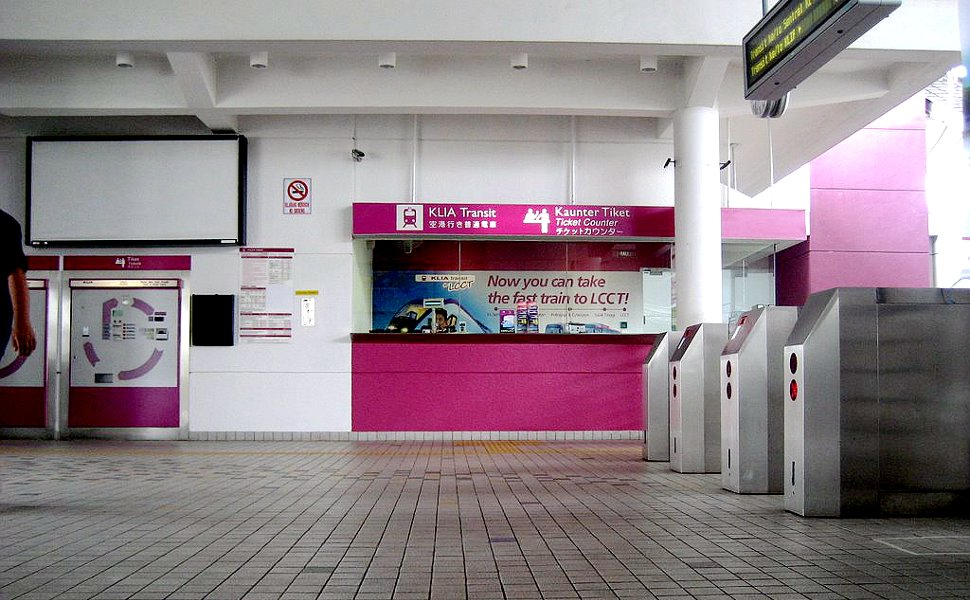 Entrance and ticket counters at Salak Tinggi ERL station