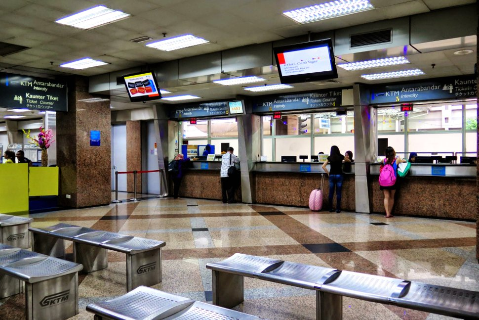 KTM Intercity ticke counters on level 1 of KL Sentral main concourse