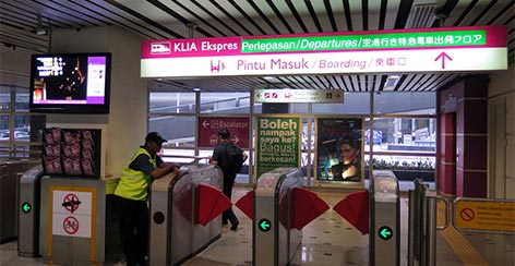KLIA Ekspres station at KL Sentral