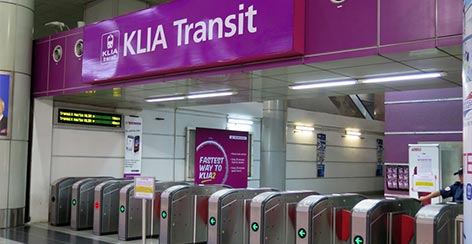 KLIA Transit station at KL Sentral