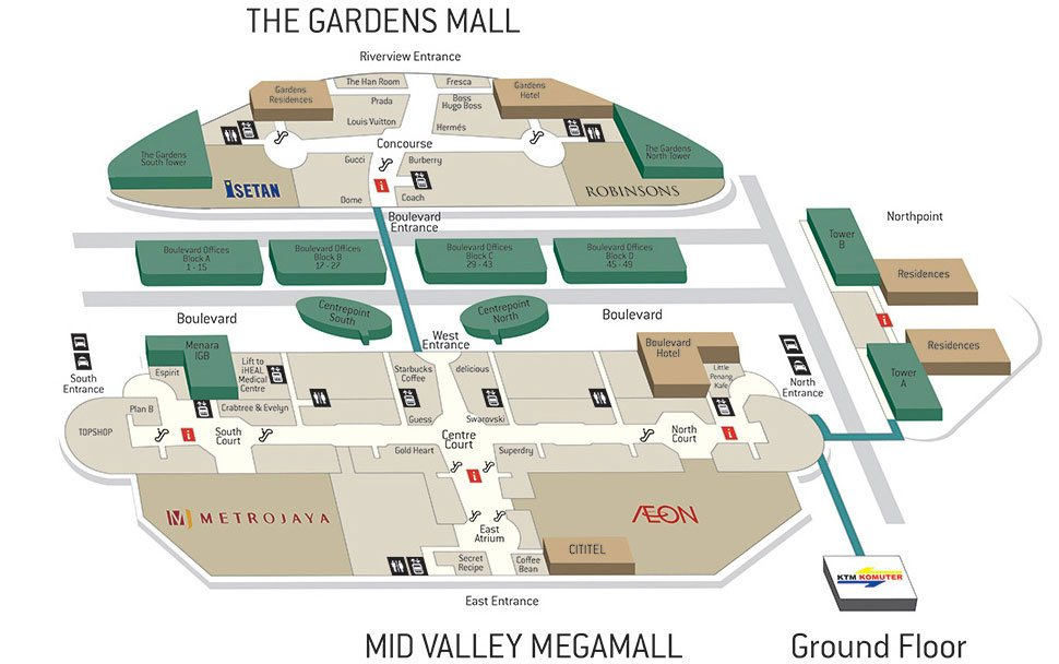 From Mid Valley KTM Station to Mid Valley Shopping Mall