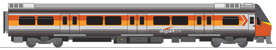 Skypark Link train