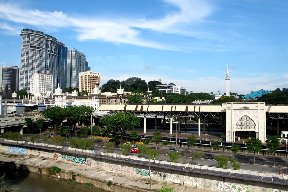 View of Kuala Lumpur KTM station from LRT station