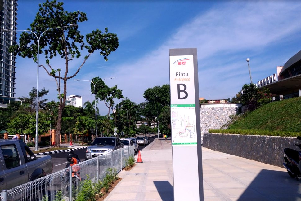 Exit Entrance B and walk 600 meters to Hang Tuah stations