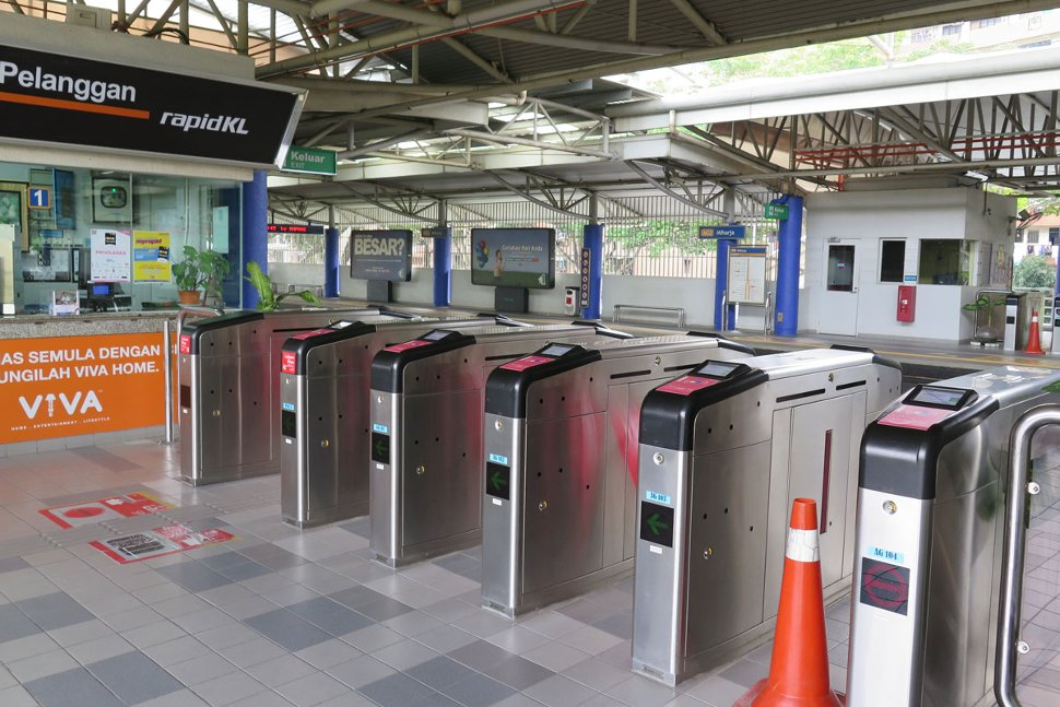 Faregates at Miharja LRT station