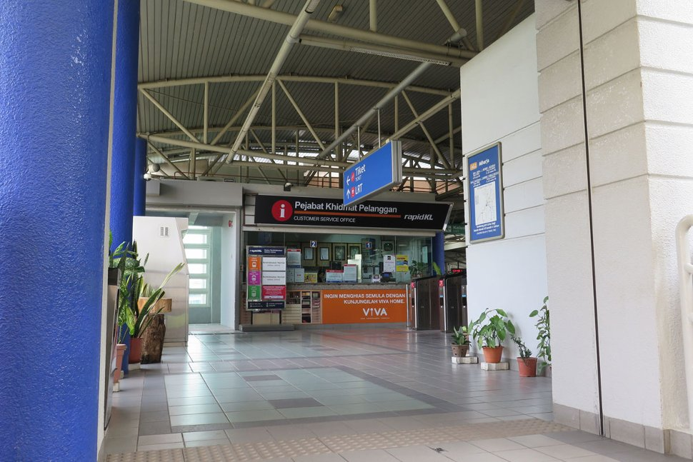 Customer service office at Miharja LRT station