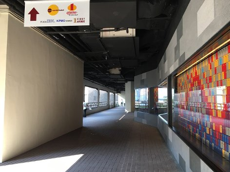 Walkway from the station leading to 1 Utama Shopping Centre