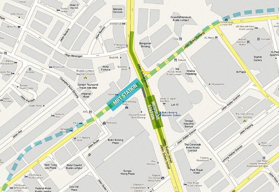 Bukit Bintang station location map