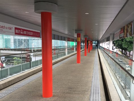 View of the linkway