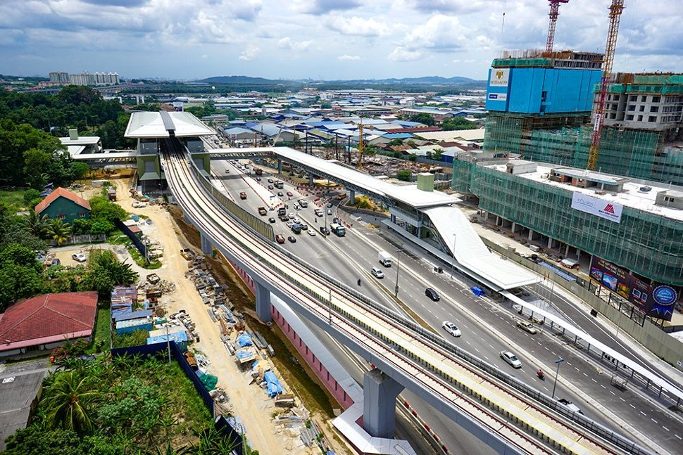 Aerial view of the Kampung Selamat MRT Station