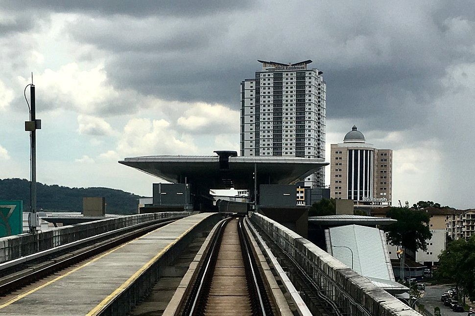 View of Kota Damansara MRT Station from train