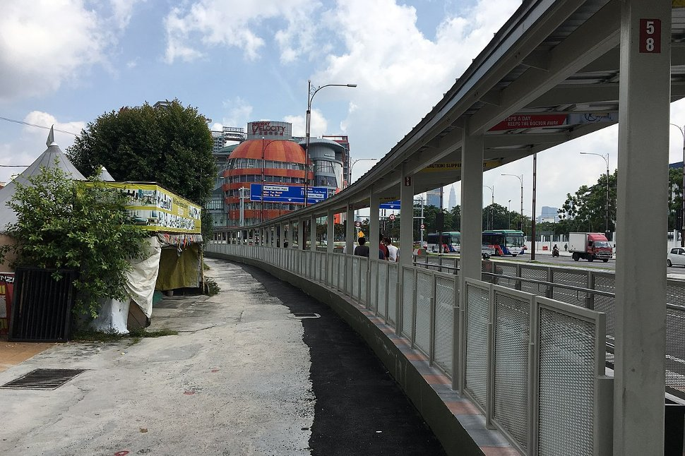 Covered walkway leading to the Sunway Velocity Shopping Complex from Entrance B