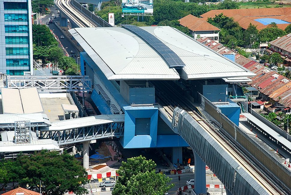Aerial view of Mutiara Damansara MRT station
