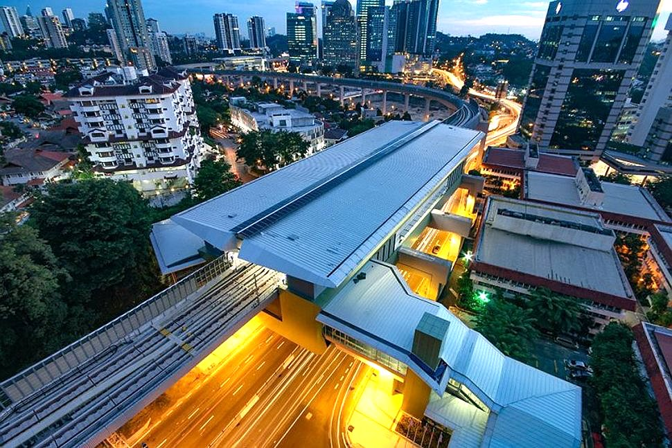 Aerial view of Semantan MRT station