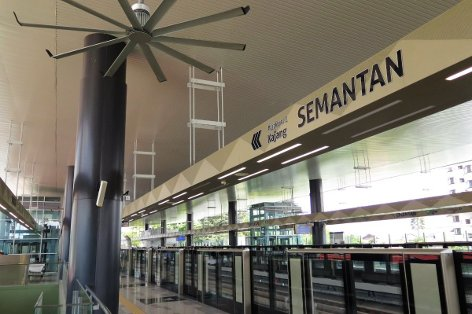 Boarding platform at Semantan station