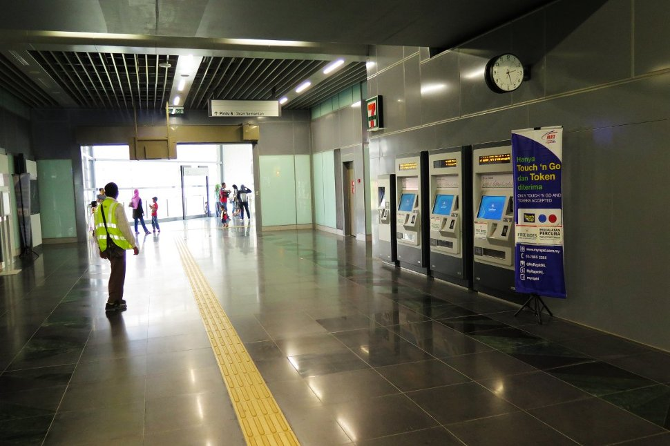 Ticket vending machines at Semantan station