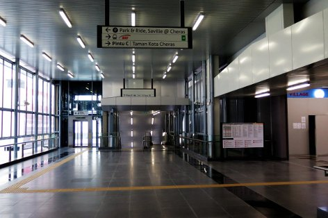 Pedestrian walkway to entrance A and entrance B