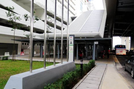 Entrance A of Sri Raya station