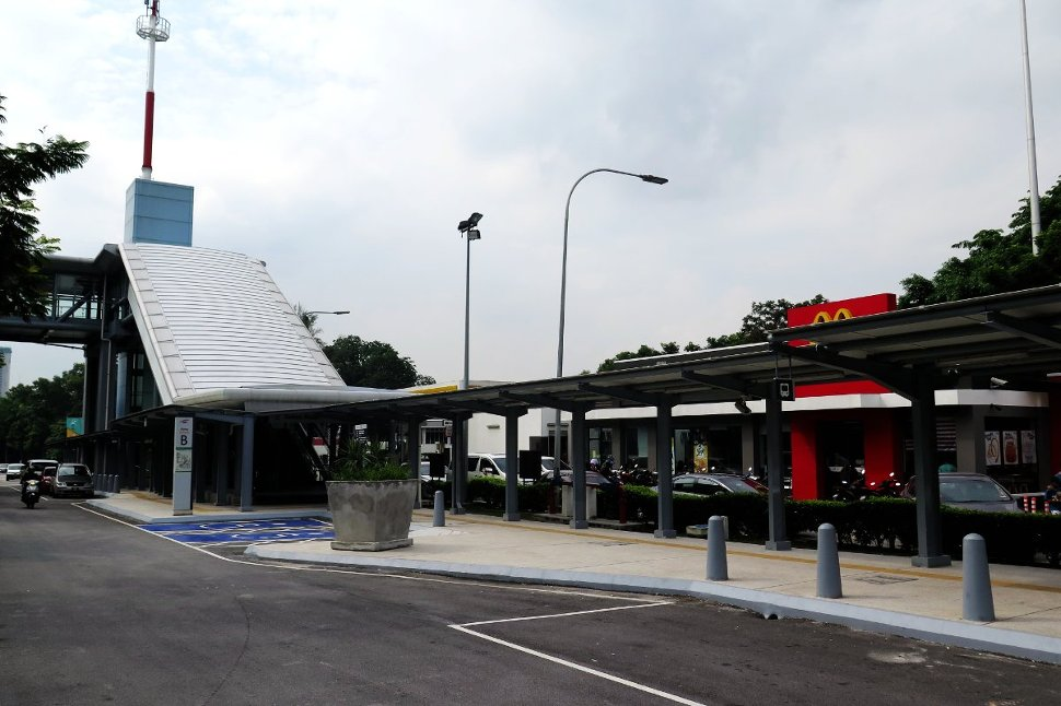 Entrance B of Taman Midah station