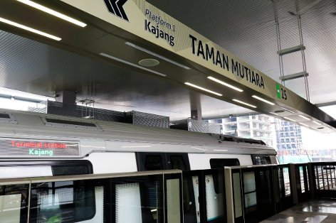 Boarding platform at Taman Mutiara station