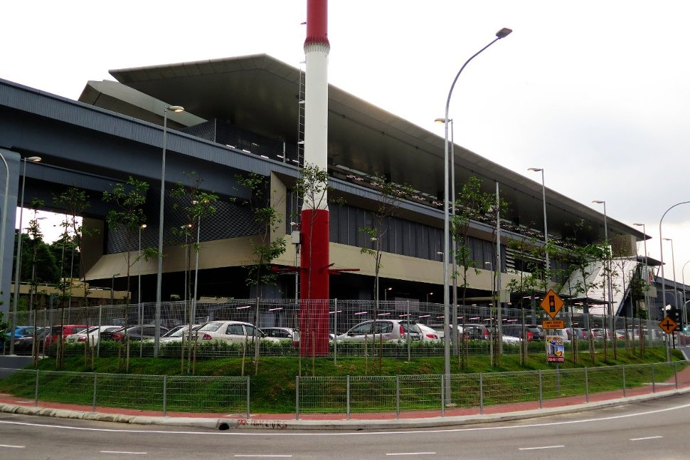 View of Taman Suntex MRT station from a near distance