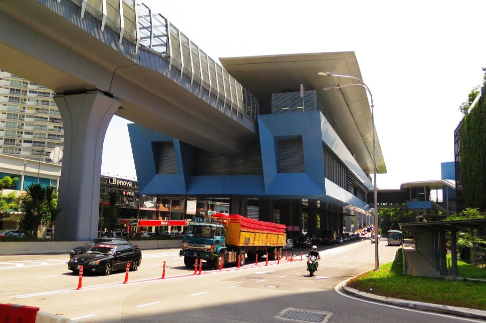 View of Taman Tun Dr Ismail Station from the roadshide