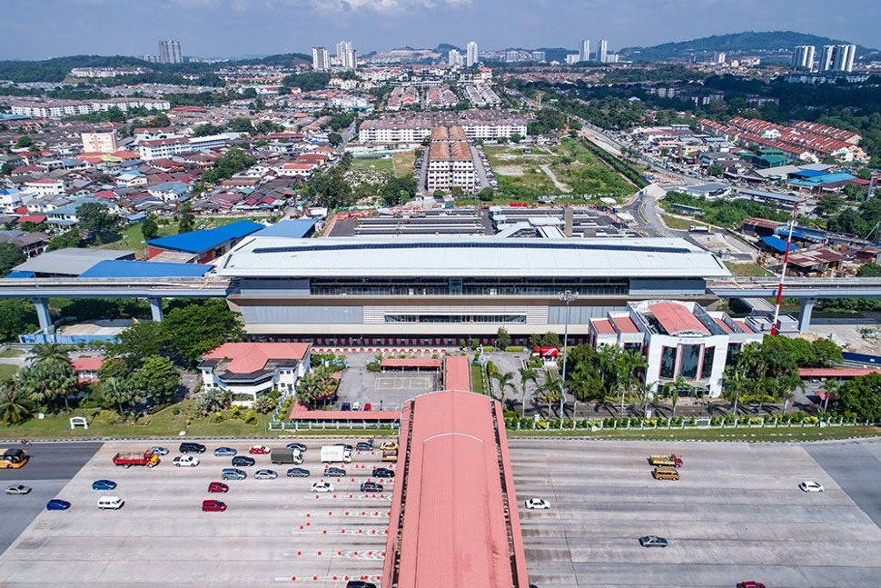 Aerial view of the Bandar Tun Hussein Onn MRT Station. Apr 2017