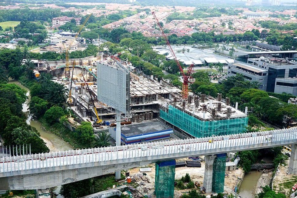 The private project which will house the multi-storey park and ride for the Bandar Utama Station. (Aug 2015)