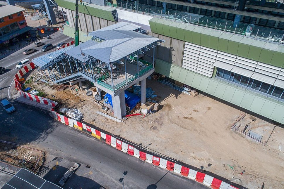 Completion works of the entrance to the Stadium Kajang Station. Feb 2017