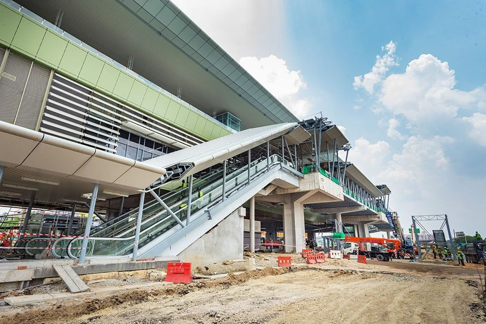Ongoing works of the entrance to the Stadium Kajang Station. Mar 2017