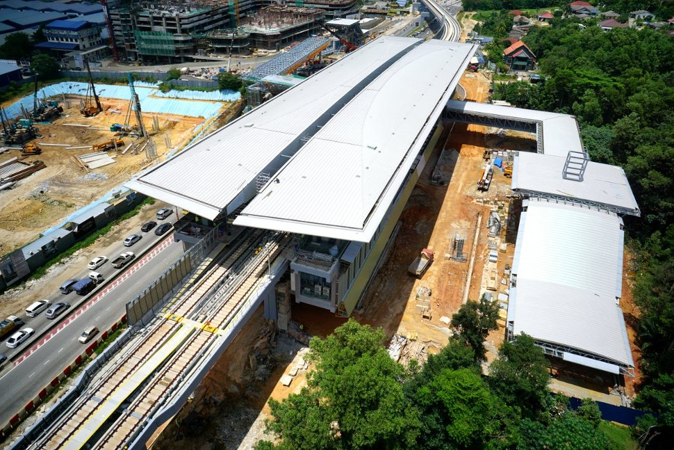 Aerial view of the Kampung Selamat Station site. (Feb 2016)
